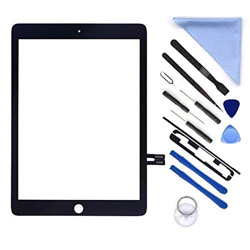 6 Button Lcd - Black Digitizer Repair Kit for iPad 9.7