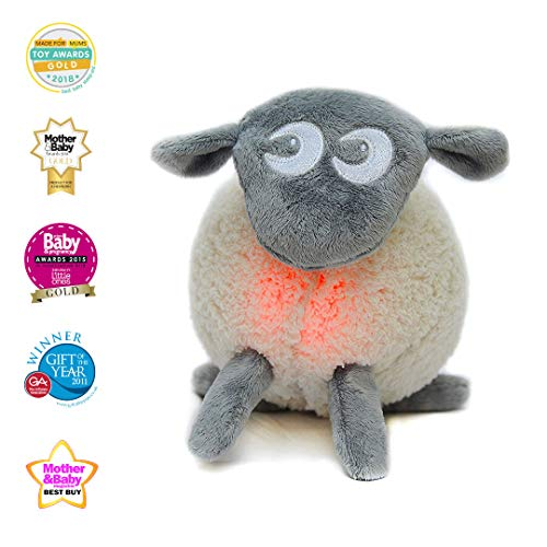 Sweet Dreamers, Ewan The Dream Sheep, Crib Sleep Soother, Baby White Noise Sound Machine with Night Light - Perfect Baby Shower Registry Gift