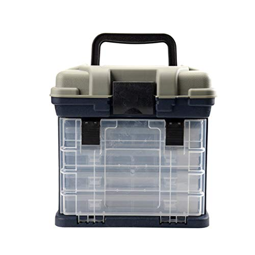 ZFW Fishing Box Lures Soft Plastics Worm Spoons Storage Tackle Box Fishing Set, Accessories Hooks Organization Large Capacity and Convenient Use