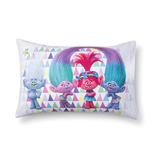 Jay Franco Dreamworks Trolls Reversible Standard Pillowcase