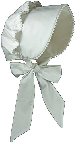 Price comparison product image Brooke's Treehouse Baby Girls' Brooke's Bonnet 12 Month White