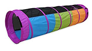 Pacific Play Tents Kids I See You 6 foot Crawl Tunnel - Multicolor & Mesh