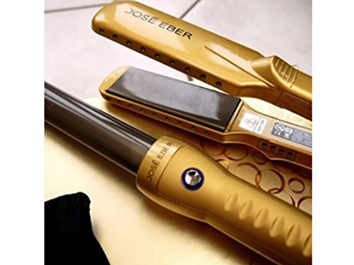 Jose Eber Gift Set, Gold Color, 25mm Curling Iron, 1.25'' Ceramic Straightener, Travel Case, Dual Voltage 110V-240V by Jose Eber (Image #4)