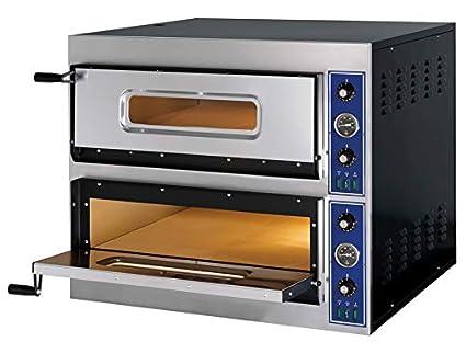 Horno de pizza de acero inoxidable, 2 cámaras de horno ...