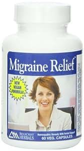 RidgeCrest Migraine Relief, Homeo/Herbal Headache Relief, 60 Vegetarian  Capsules