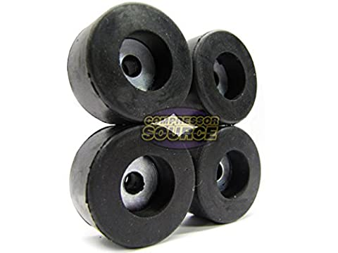 Set of 4 Air Compressor Rubber Feet Replacement Foot Mount New 4 Vibration Pads (Compressor Pads)