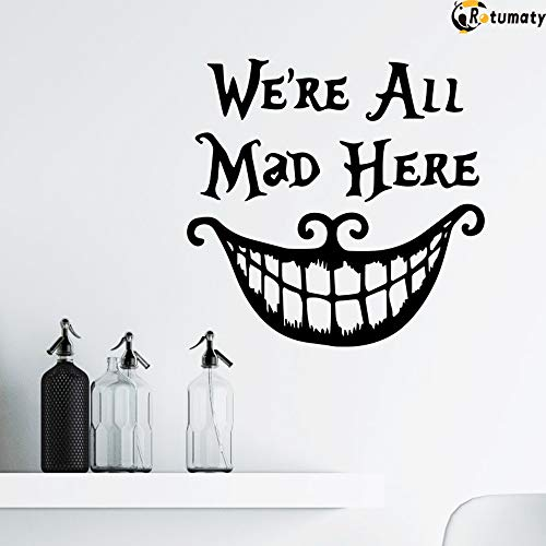 Best Halloween Wall Decorations (Rotumaty Halloween 'Smiling Face' Thriller Wall Stickers Decoration Trick Game Bedroom Wall Decal Removable Vinyl Home Decor Bar)