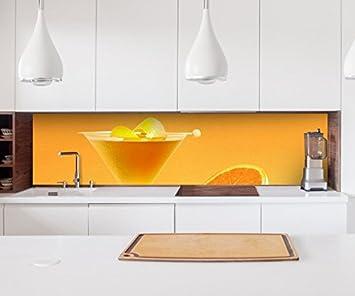 Aufkleber Küchenrückwand Obst Granatapfel rot KKüche Folie Spritzschutz 22A826