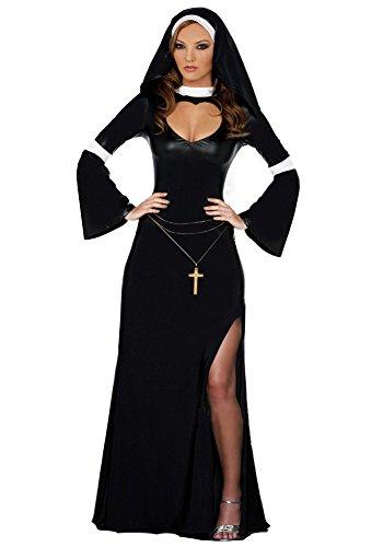 AVIDE Naughty Nun Fancy Dress Costume Sexy Nun Costumes -