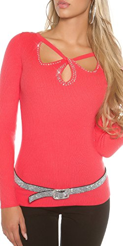 In-Stylefashion - Sudadera - para mujer rojo claro