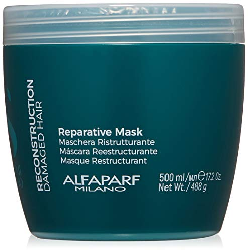 Alfaparf Milano Semi Di Lino Reconstruction Reparative Mask for Damaged Hair, Sulfate Free - Safe on Color Treated Hair - SLS, Paraben and Paraffin Free - Professional Salon Quality