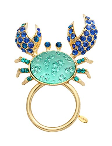 SENFAI Blue Color crab With Crystal Megnet Eyeglass Holder For Womens' Jewelry by SENFAI (Image #5)