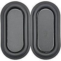 Aoshike 2pcs 40x80mm DIY Bass Speaker Woofer Loudspeaker Vibrating membrane/plate vibrator radiator speakers Woofer Diaphragm Plate
