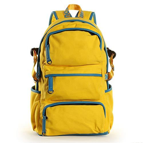 School Borsa Laptop 48cm Zaino Giallo tracolla Canvas Backpack Dimensione3013 Retro a BCdoWerx