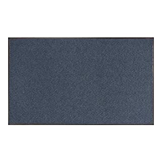 AmazonBasics Chevron Poly Rib Commercial Carpet Vinyl-Backed Mat 3x5 Blue