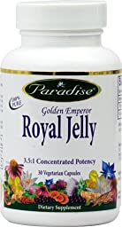 Paradise Herbs Golden Emperor Royal Jelly -- 30 Vegetarian Capsules - 2pc