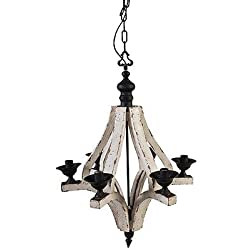 A&B Home Wood and Metal Chandelier, 22.5 X 32.3-Inch