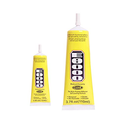 Vansee❤❤E8000 Clear Adhesive Sealant Glue for DIY Diamond Shoes Paste Jewelry Craft 2pcs (15ML+110ML)