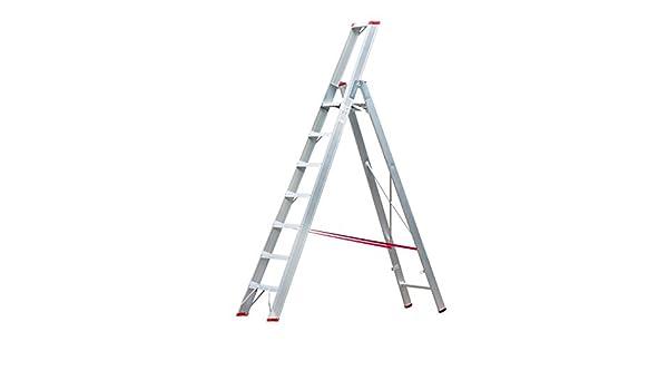 Hymer – Escalera de aluminio con plataforma y bandeja 3 niveles 0962931803: Amazon.es: Bricolaje y herramientas
