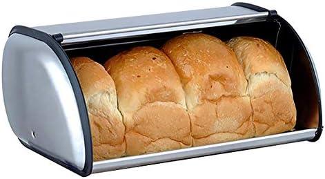 ZAKAA Caja de Pan con Tapa de Acero, Panera, Caja de Pan de Acero ...