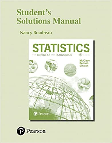 Students solutions manual for statistics for business and economics students solutions manual for statistics for business and economics 13th edition fandeluxe Images