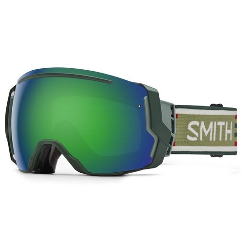 SMITH I/o7 Masque de Ski Mixte Forest Woolrich/Green Sol-X Mirror