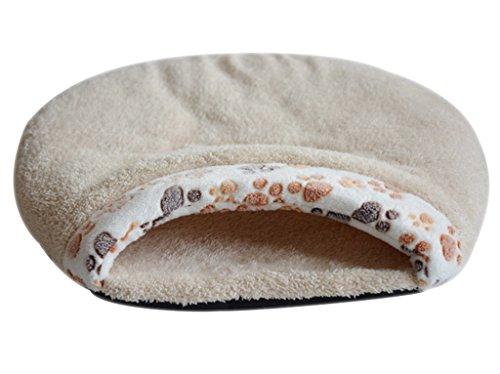 Luoke Cat Sleeping Bag Warm Soft Puppy Burrow Cat Kitten Cave Igloo Nest Sleeping Bag Bed (White)