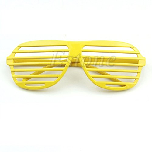 Yumian Retro Fun Party Shutter Shades Glasses Novelty Club Fashion Fancy Dress Eyewear - Glasses Party Rock