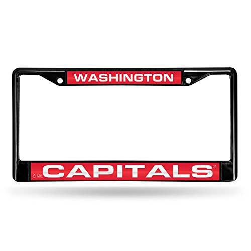 NHL Washington Capitals Frame Chrome Laser, Small, Black