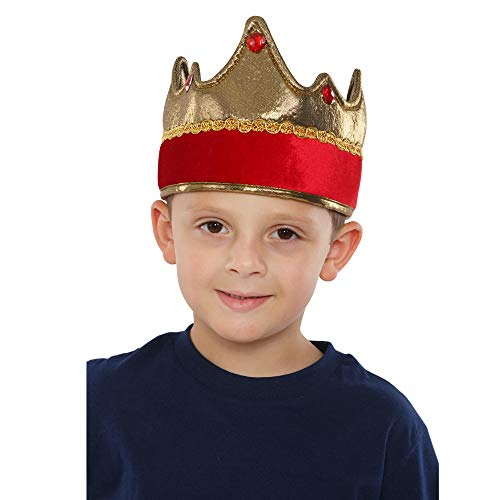 Dress Up America Kids' Little Exquisite Red Crown, One Size Fits Mone Sizet -