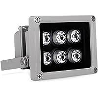 EziviewCCTV IR Illuminator 850nm 6 PCS LEDs 90 Degrees Wide Angle IP67 for CCTV Security Camera