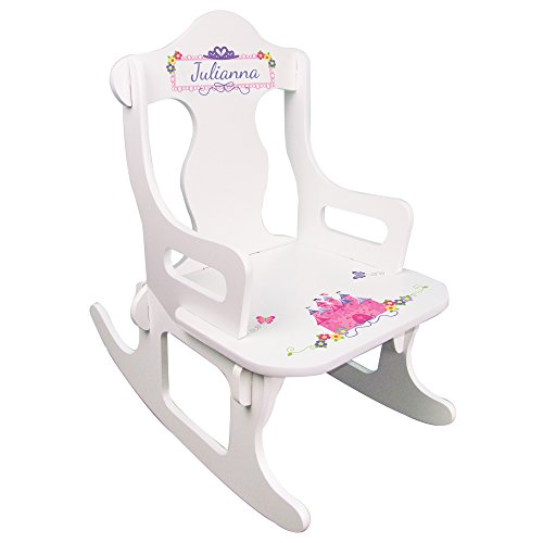 Personalized Child's Princess Puzzle Rocking (Rocking Chair Assembled)