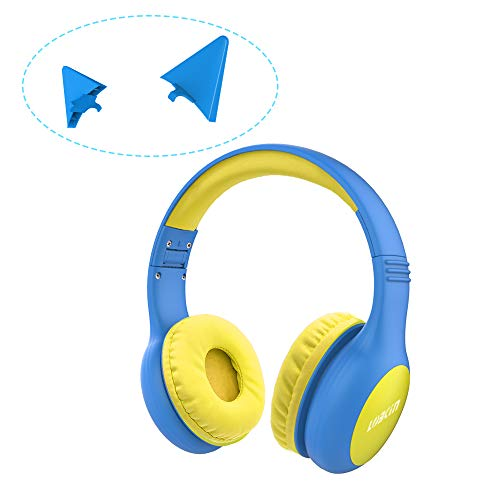 LOBKIN Kids Headphones Volume Limited Protection Wired Headsets with SharePort for Children/Kids,Kids Friendly Safe Food Grade Material On-Ear Headphones for Children Toddler Baby
