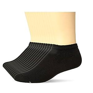Hanes Mens Black Active Cool No Show Socks