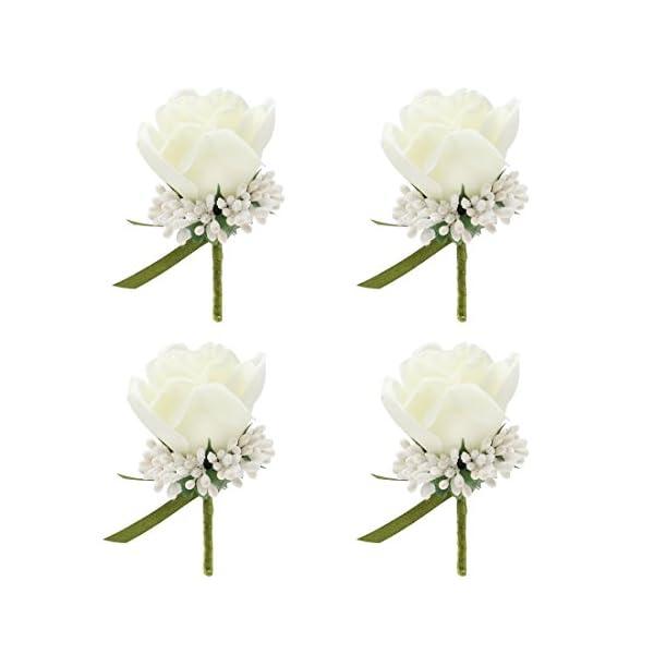 JaosWish-4PCS-Flower-Men-Boutonniere-Handmade-Silk-Men-Corsage-for-Wedding-Party
