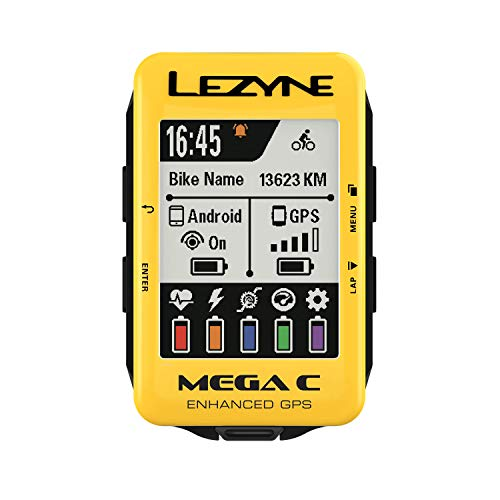LEZYNE Mega C GPS Bike Computer Yellow