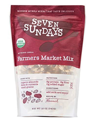 - Seven Sundays Organic Farmers Market Muesli {12 oz, 1 Count} | Certified Organic | Gluten Free Certified | No Added Sugar | Non-GMO | Vegan