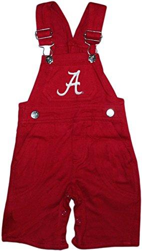 - University of Alabama Crimson Tide Newborn Baby Infant Toddler Overalls, Crimson, 3T