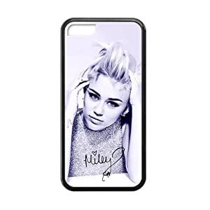 Hipster Miley Cyrus Apple Iphone 5C Case Cover TPU Laser Technology