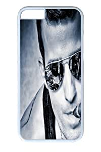 iphone 6 Case and Cover -Man Guy Glasses Aviators Cigar Face PC Hard Plastic Case for iphone 6 4.7 inch Whtie