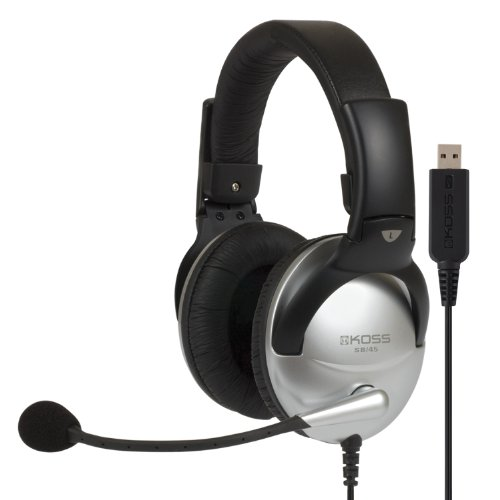 Koss SB45USB COMM HEADSET with MIC USB 8FT VOL NOISE REDUCTI