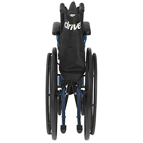 Drive Medical Blue Streak Wheelchair with Flip Back Desk Arms, Swing Away Footrests, 18'' Seat by Drive Medical (Image #4)
