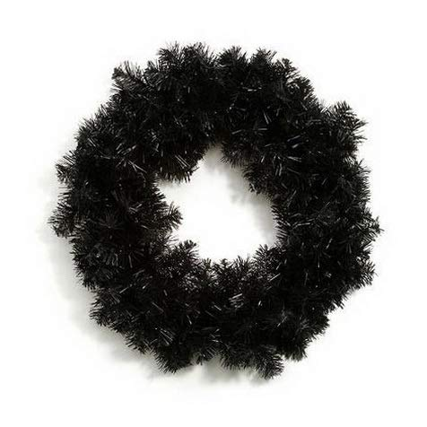 (Mikash Halloween Colorado Pine Wreath - 160 Tips - Black - 20 inches w | Model WRTH - 68)