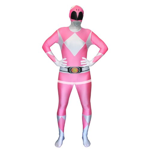 [Official Pink Power Ranger Morphsuit Costume - size Medium - 5'-5'4 (150cm-162cm)] (Four Group Costumes)
