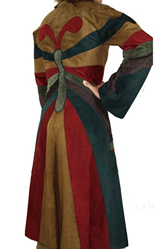 De Genuino Gabbana Cuero amp; Verde Abrigo Mujer Dolce BYxOIqF