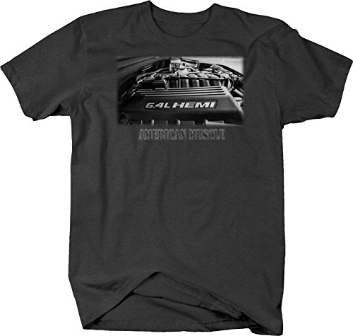 Retro American Muscle Hotrod Motor Car Charger Challenger T Shirt for Men 2XL Graphite