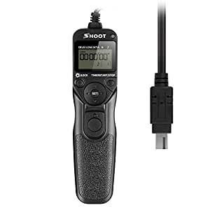 Shoot MC-DC2 Temporizador Cable del Disparador Remoto del de Pantalla LCD para Nikon D90 D600 D610 D3100 D3200 D3300 D5000 D5100 D5200 D5300 D7000 Cámara Digital SLR