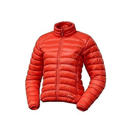 Warmpeace Swan chaqueta de plumas para mujer naranja + Ultra ligero + saco de dormir Colour