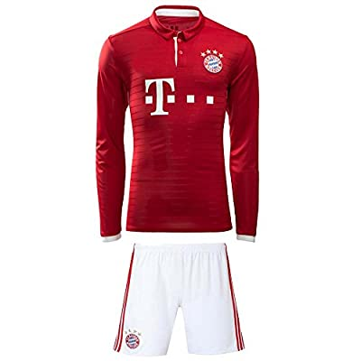 Bayern Munich Long Sleeve Home Youth Set 2016-2017 (Jersey and Shorts Included)