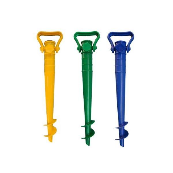 kit spiaggia ombrellone ponza + picchetto + set 2 borse termiche giostyle Fiesta 6/25 3 spesavip